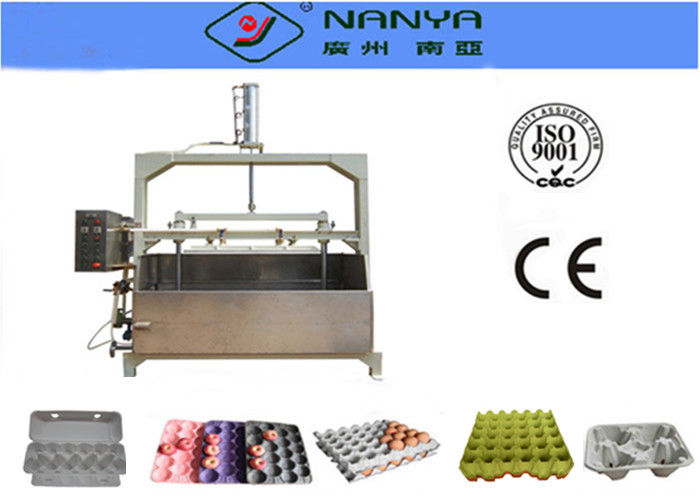Semiautomatic Recycled Waste Pulp Tray Machine Making Fruit / Medical Tray 800Pcs/H