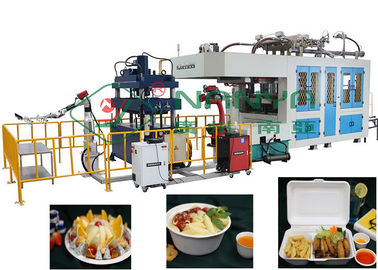 Paper Pulp Moulding Equipment Dibentuk Bagasse Fiber Lunch Box Machine