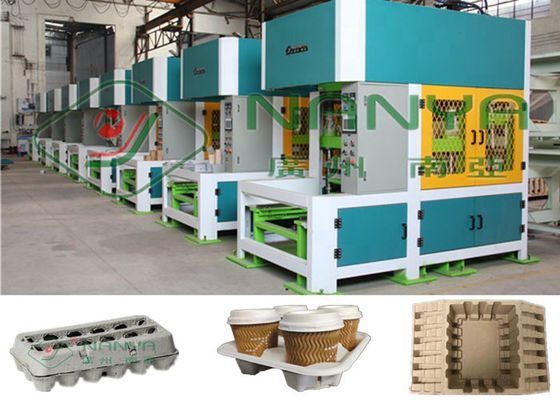 Pulp Molding Cup Holer 30KW Mesin Pembentuk Hot Press